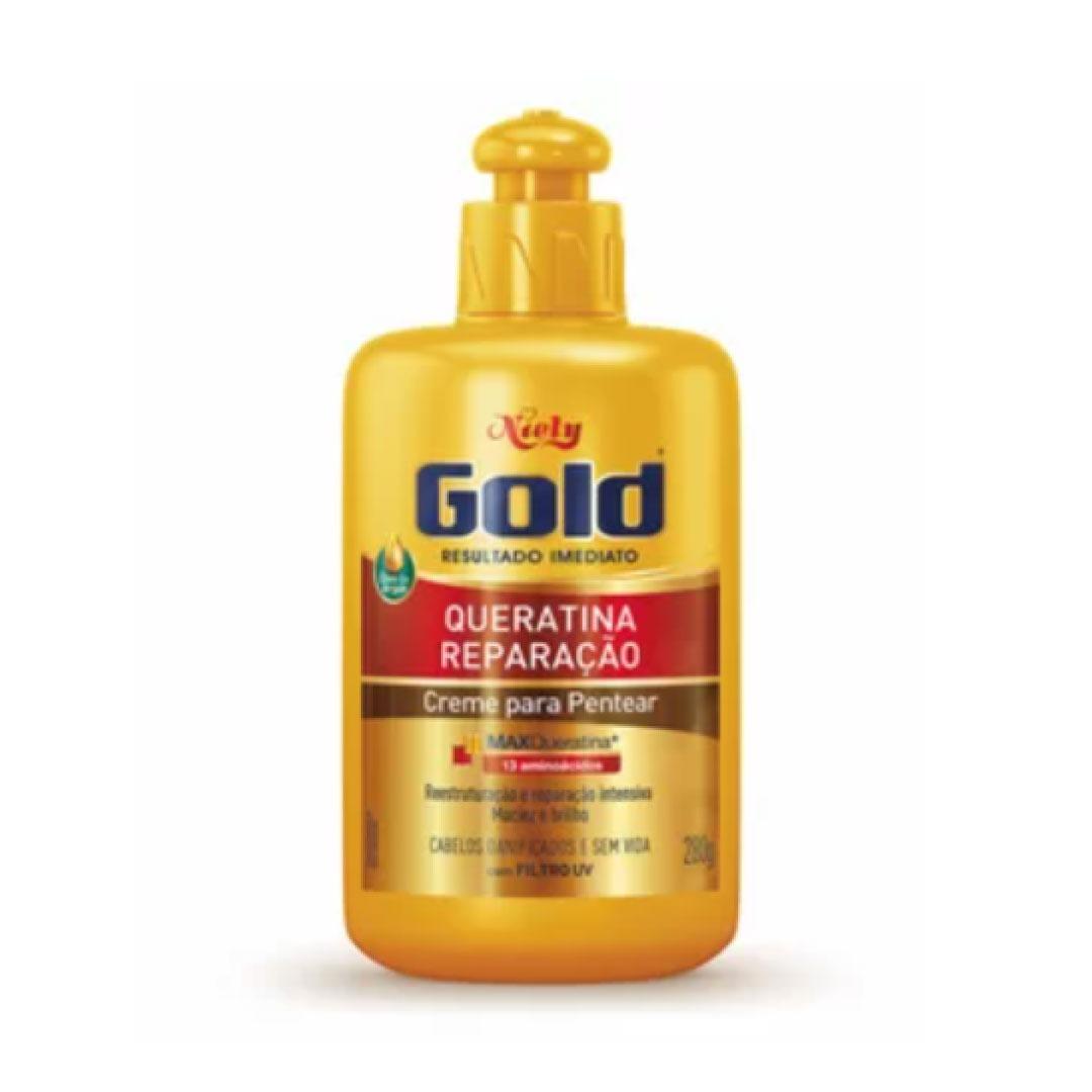 Creme Para Pentear Queratina Reparação Niely Gold